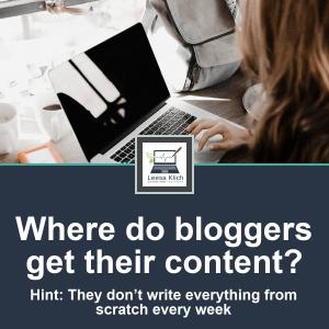 Where do bloggers get their content