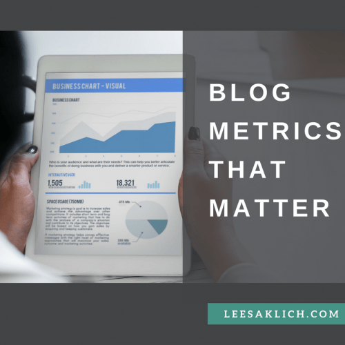 Blog metrics that matter – Part 1