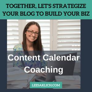 content calendar coaching