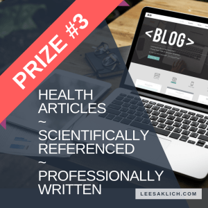 Health Blogging Bundle prize 3