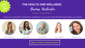 Health & Wellness Business Accelerator Banner