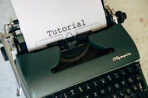 tutorial typewriter helping your audience choosing a topic