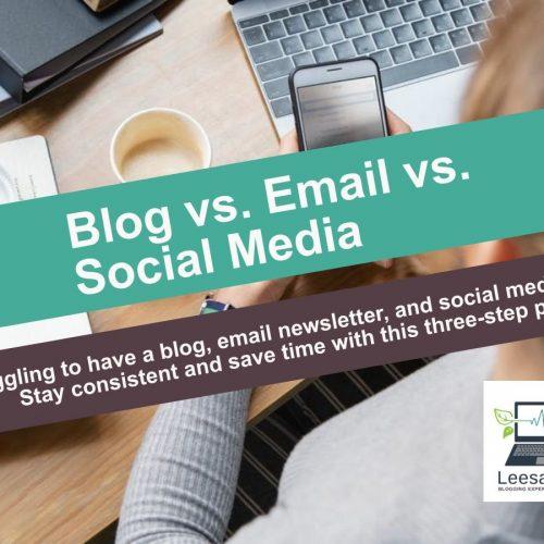 Blog vs Email vs Social media