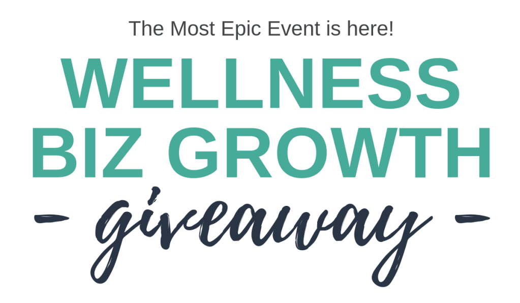 wellness biz growth giveaway banner