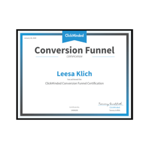 sales funnel certificate from ClickMinded
