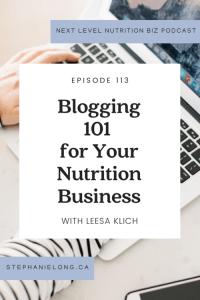 Leesa Klich Stephanie Long Nutrition Blogging