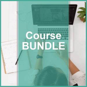course bundle woman on laptop