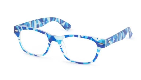 Leesbril INY Woody Crazy G20600 blauw/transparant
