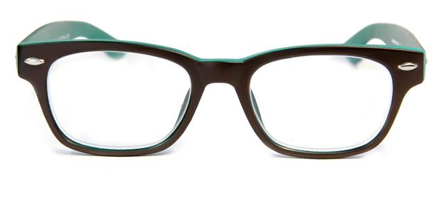 Leesbril INY Woody Double G42300 bruin/groen