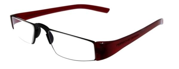 Leesbril Porsche Design P'8801b titanium/rood