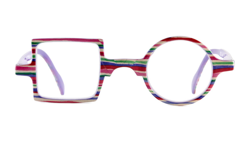 Leesbril Readloop Patchwork 2607-04 paars gestreept