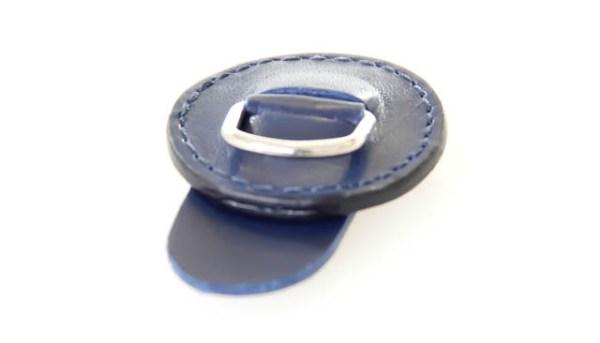 Leren magneet brilhangertje 1332 03 blauw