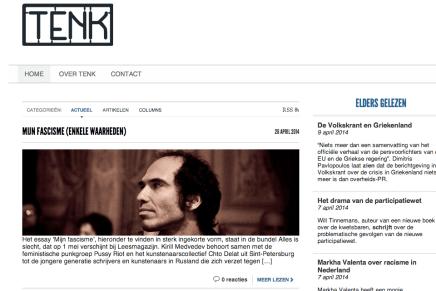 MIJN FASCISME (ENKELE WAARHEDEN)  op www.tenk.cc