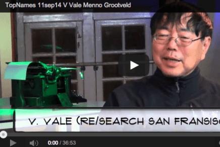 V Vale interview Menno Grootveld (in Fast Moving Targets)