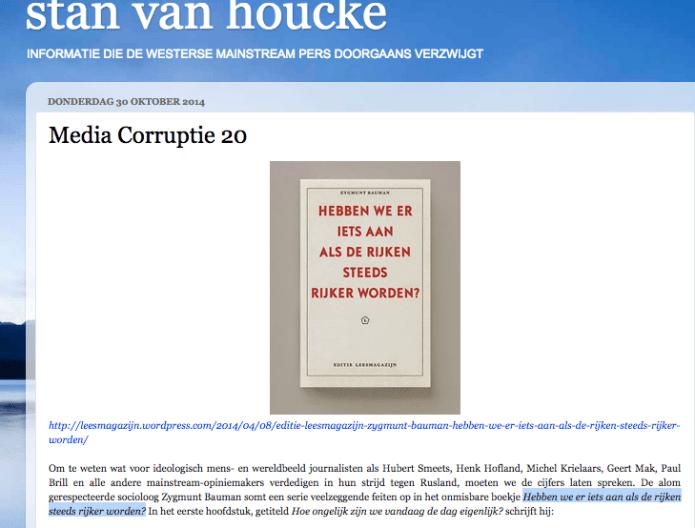 Stan van Houcke recensie Zygmunt Bauman