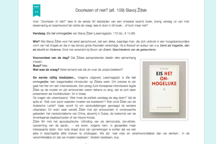 Mark Cloostermans: Doorlezen of niet? (afl. 109) Slavoj Žižek