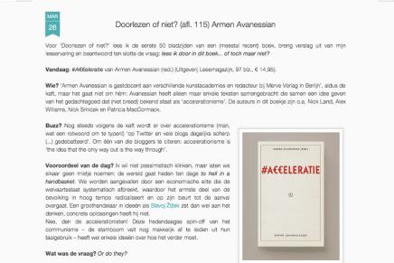 Doorlezen of niet? (afl. 115) Armen Avanessian #Acceleratie