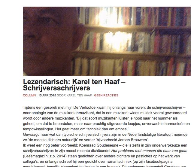 Lezendarisch: Karel ten Haaf – Schrijversschrijvers