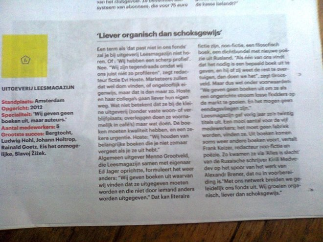 Trouw 7-4-15 Interview LM