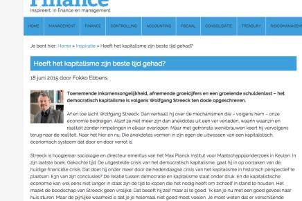 Heeft het kapitalisme zijn beste tijd gehad, recensie Fokko Ebbens in Executive Finance, 18-6-15