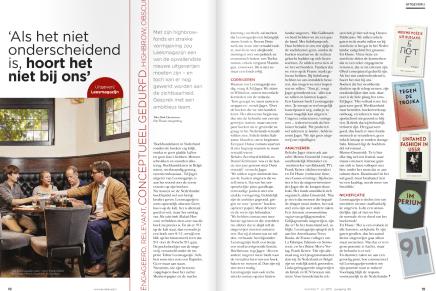Als  het niet onderscheidend is, hoort het niet bij ons, interview Mark Cloostermans, Boekblad 11-7-15