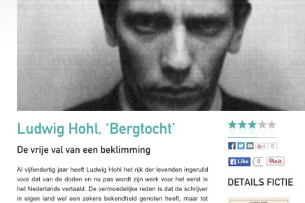 Ludwig Hohl, 'Bergtocht'  De vrije val van een beklimming, Jan-Jakob Delanoye, Cutting Edge
