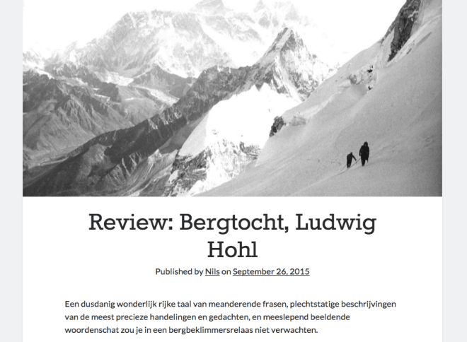 Ludwig Hohl Bergtocht