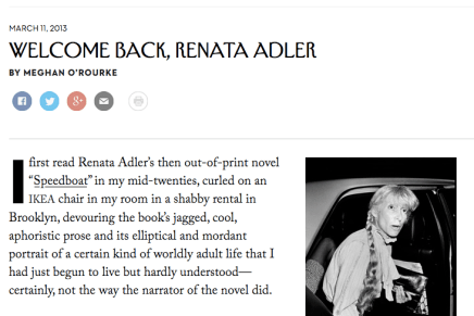 Renata Adler in The New Yorker
