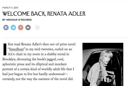 Renata Adler in The New Yorker