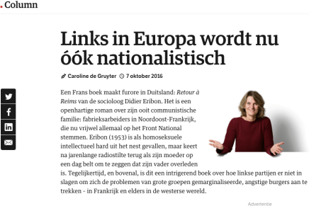 Links in Europa wordt nu óók nationalistisch, 7 oktober 2016