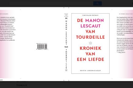 De Manon Lescaut van Tourdeille – cover draft