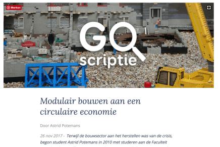 Modulair bouwen aan een circulaire economie