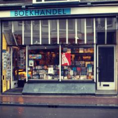 boekwinkel zwart op wit boekhandel