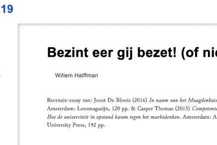Bezint eer gij bezet! (of niet) Willem Halffman, Krisis.eu