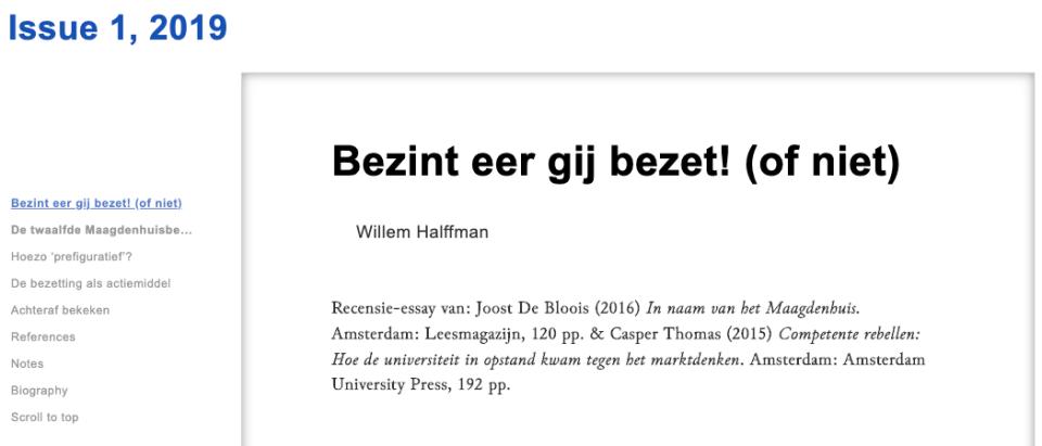 Bezint eer gij bezet! (of niet) Willem Halffman