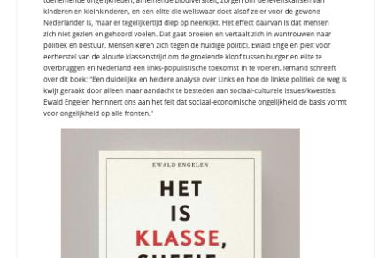 Het is klasse, suffie, niet identiteit! |Ewald Engelen 30 december 2019