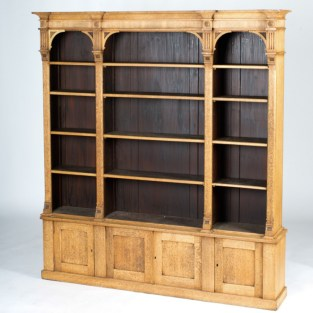 England circa 1880 open face bookcase