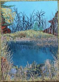 "late fall pond 5x7"""