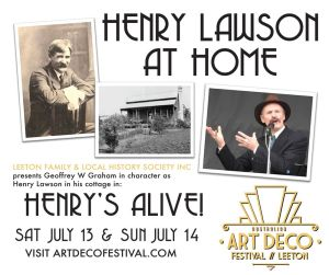 Henry lawson at home in leeton