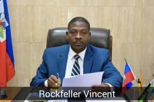 Haïti-Politique : Rockfeller Vincent révoqué