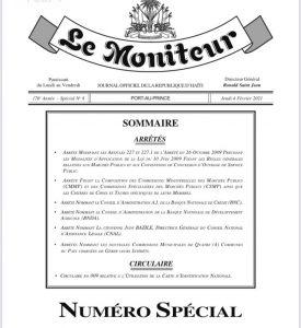 Haïti-Gouvernance : Nouvelles nominations au sein de l'administration publique