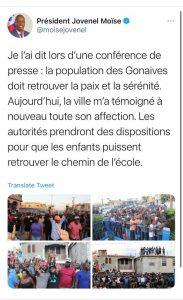 Haïti : À pas de tortue, Jovenel Moïse marche aux Gonaïves, fief de Youri Latortue