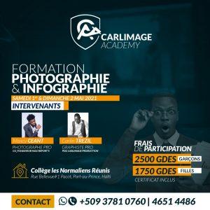 """Haïti-Technologie : """"CARLIMAGE ACADEMY"""" lance deux journées de formation en photographie et infographie"""