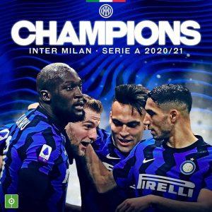 """Football : L'Inter freine la Juventus, remporte la """"Série A"""" et devance le Milan AC d'un titre"""