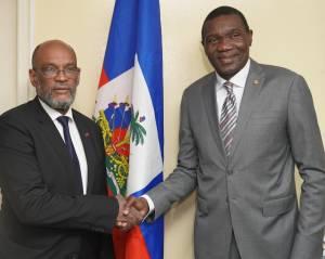 Haïti-Politique : Renconte entre le Premier Ministre Ariel Henry et le Président du Sénat, Joseph Lambert