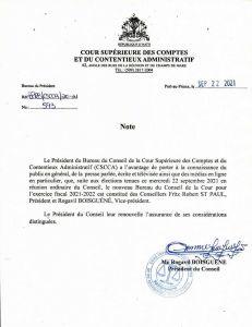 Haïti : Fritz Robert Saint-Paul, nouveau président de la Cour Supérieure des Comptes