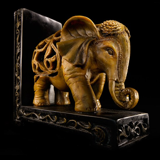 Elephant book end