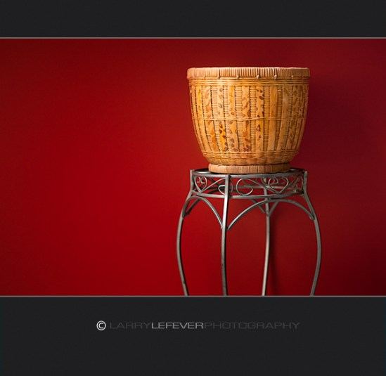 Basket and Steel Table