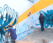 """La manifestation """"Presles fête les arts de rue"""", au quartier de Presles de Cusset."""