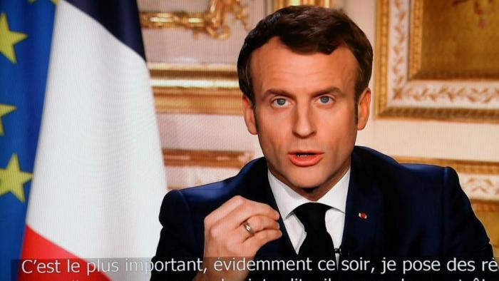 Emmanuel Macron annonçait le premier confinement le 16 Mars 2020 - Source : Youtube
